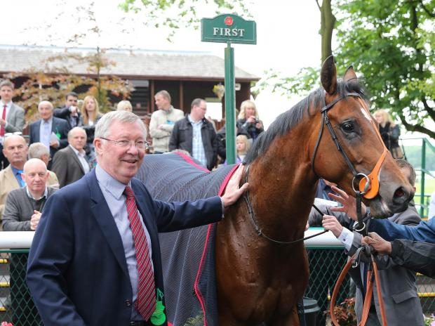 St Helens Star: WINNING FEELING: Sir Alex Ferguson with his horse Snap Shots (Sir Alex Ferguson