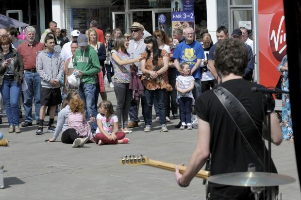 St Helens Star: ROCK N ROLL: The crowds enjoyed the promotional concert ahead of the Westfield Street Music Festival