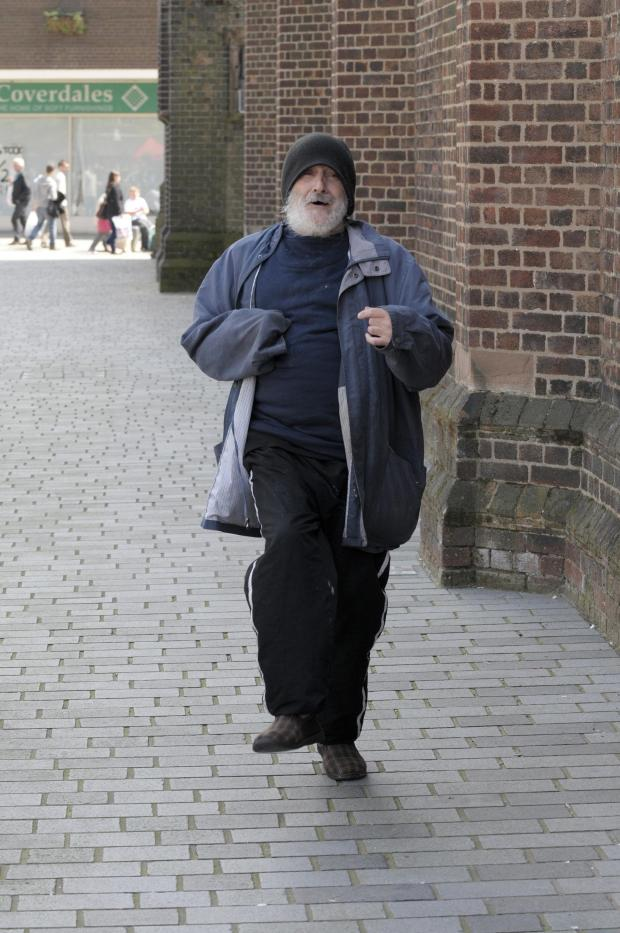 St Helens Star: DANCING FEET: In his slippers, the local character danced along to the cover of Johnny B. Goode
