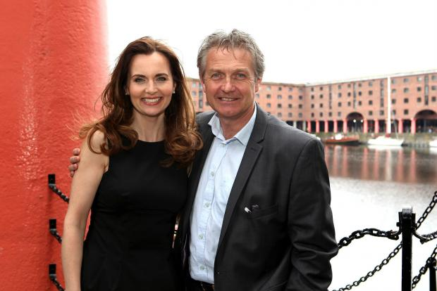 STAR QUALITY Debra Stephenson with her co-star Stephen Pinder