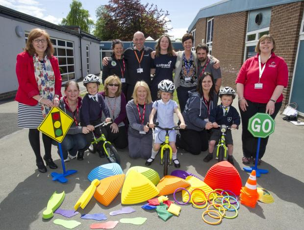 Staff and children at St Ann's prepare for Cycling Together