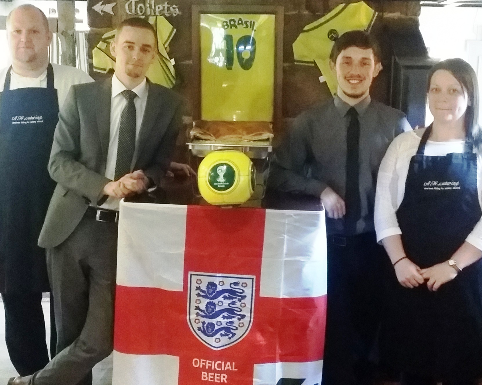 The Manor Farm team with a touch of Brasil
