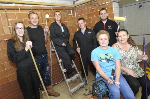 HELPING HANDS: The volunteers have helped to transform Newton Sports Club