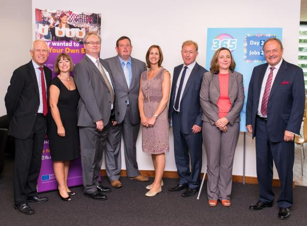 Council and business leaders attend the launch