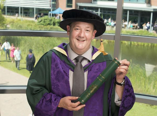 Johnny Vegas receives his honorary doctorate