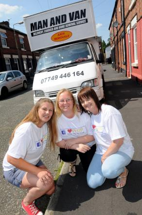 Helen Caddock, Wendy McComish and Kate Blackburn are helping spread goodwill around St Helens