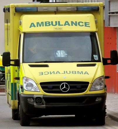 Ambulance crews took the woman to hospital
