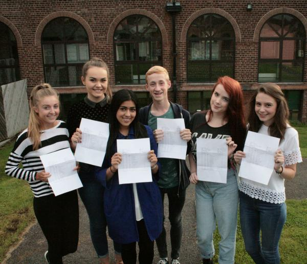 Students celebrating superb A-Level results