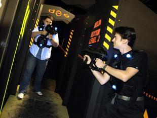 Laser tag teams come to town
