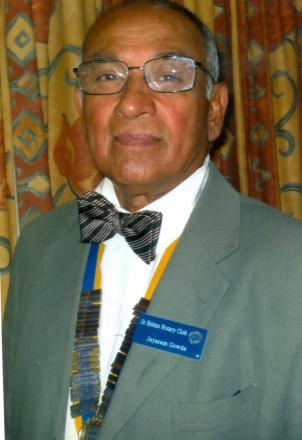 Jayaram Gowdagere is the St Helens Rotary's first overseas President