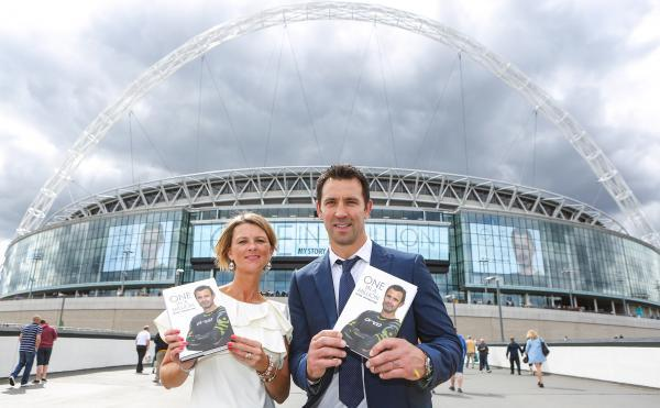 Linzi Prescott and Paul Sculthorpe launch One in a Million at Wembley last Saturday