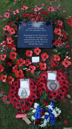 A headstone was recently unveiled at St Helens Cemetery in memory  of soldiers who lost their lives in the First World War
