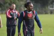 Atelea Vea training under the watchful eye of Keiron Cunningham