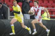 Matty Fleming - in action against Widnes in the pre-season friendly