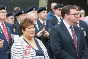 Armed services honoured at touching ceremony in town square