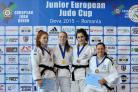 Gold medal winner Lucy Renshall (second left) Picture: Daniel Oprescu