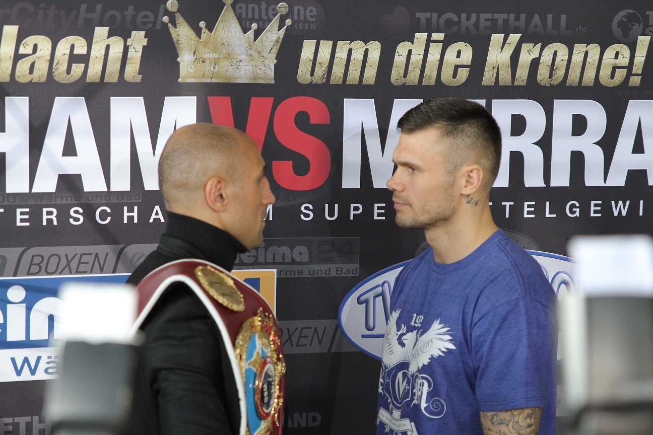 Arthur Abraham and Martin Murray Picture: Sebastian Heger/Sauerland Promotions