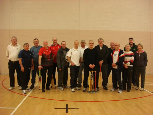"Photograph courtesy of Age UK Mid Mersey, who organise the Indoor Walking Cricket""  (www.ageuk.org.uk/midmersey)."