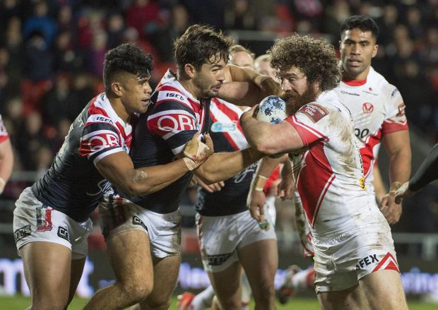St Helens Star: Saints v Roosters action on Friday night