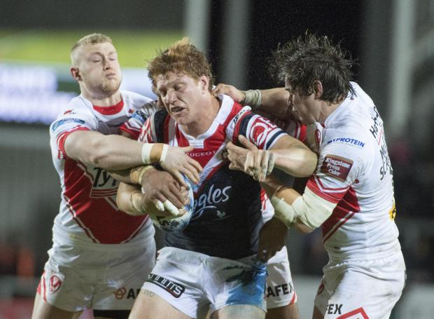 St Helens Star: Action from the Saints v Roosters clash