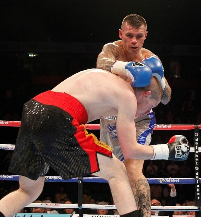 Martin Murray sees off Cedric Spera last time out. Pictures: Lawrence Lustig