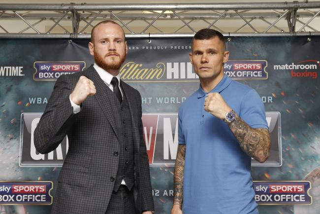 George Groves and Martin Murray. Picture: Lawrence Lustig