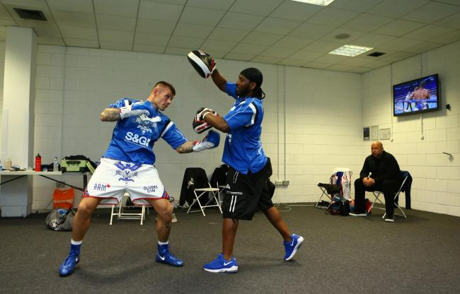 Martin Murray with trainer Oliver Harrison