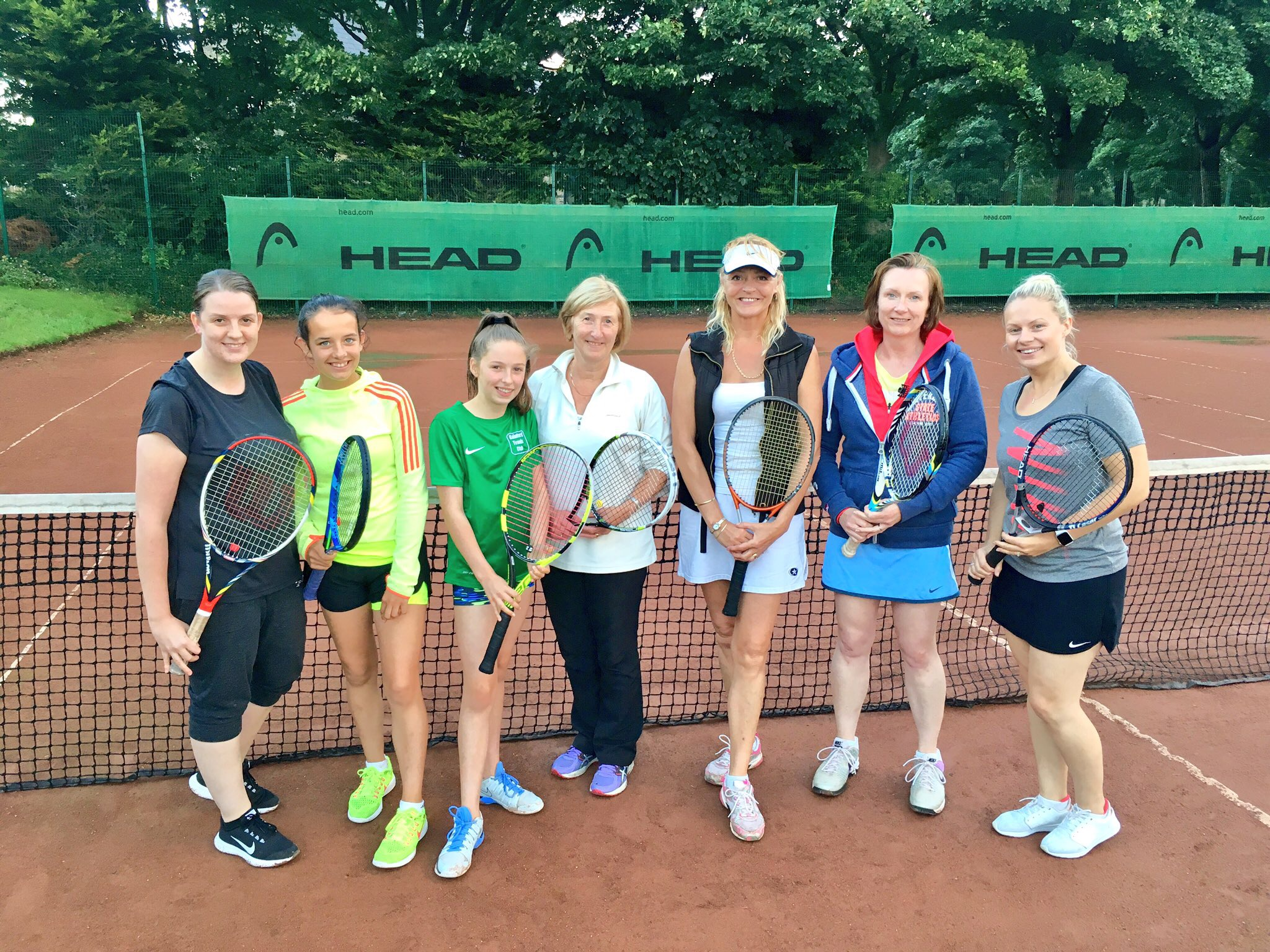 Rainford Tennis Club's women's team, captained by Anne Moyers