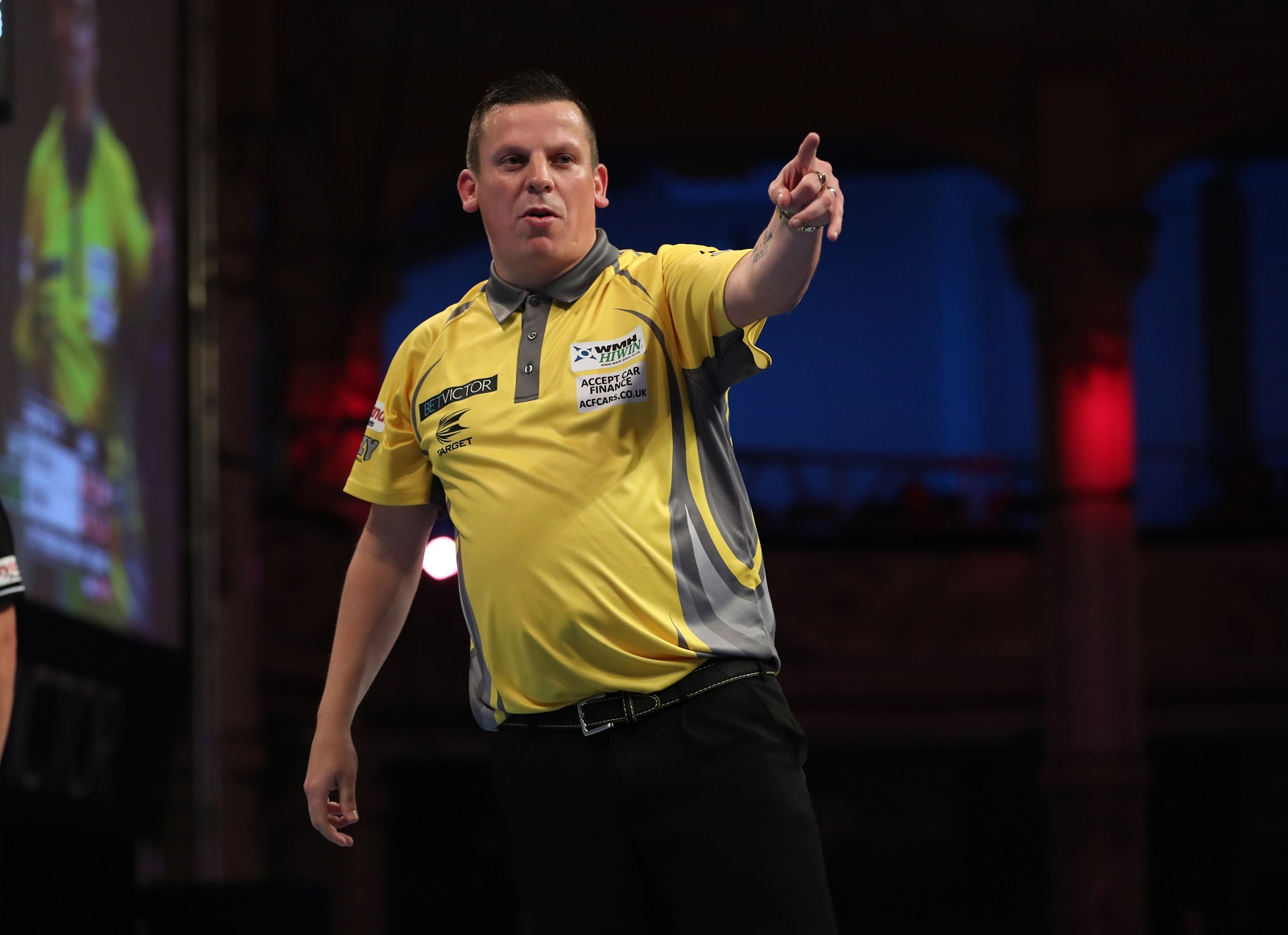 Dave Chisnall, who won his first title of the year in Barnsley. Picture by Lawrence Lustig