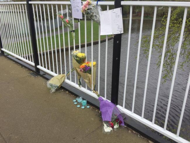 Flowers were left at bridge over the Hotties as a tribute to Carlos