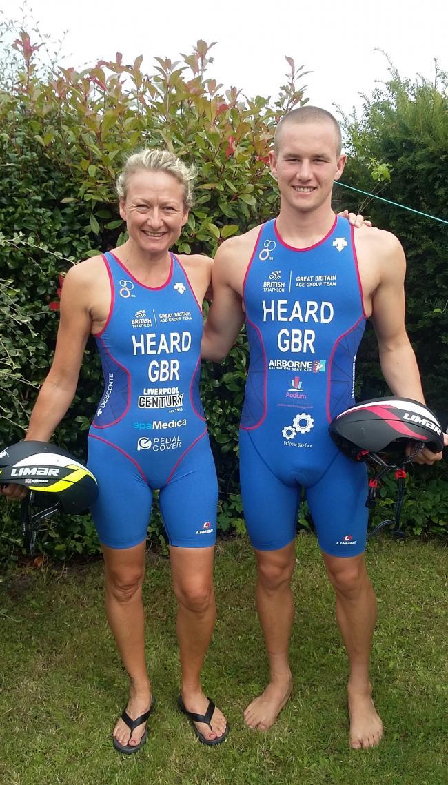 4fdbe9e0890 St Helens Tri Club s mother and son qualify for World Triathlon ...