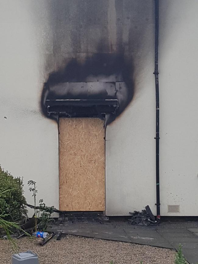 Initial enquiries indicate that the fire was deliberately started and significant damage was caused to the house