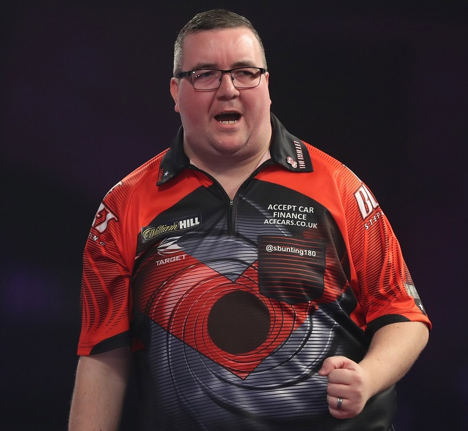 Stephen Bunting exited the World Darts Championship on Friday following a first-round defeat against Dimitri Van den Bergh. Picture: Lawrence Lustig/PDC