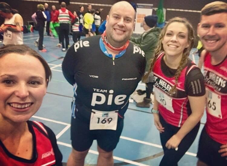 St Helens Striders athletes Rachel Tickle, Mike Brunt, Jenny Appleton and Paul Brown before the New Years Eve 10k