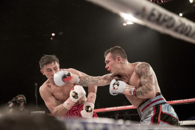 Martin Murray against Gennady Golovkin in one of four previous world-title attempts. Picture: Monte Carlo societe des bains de mer