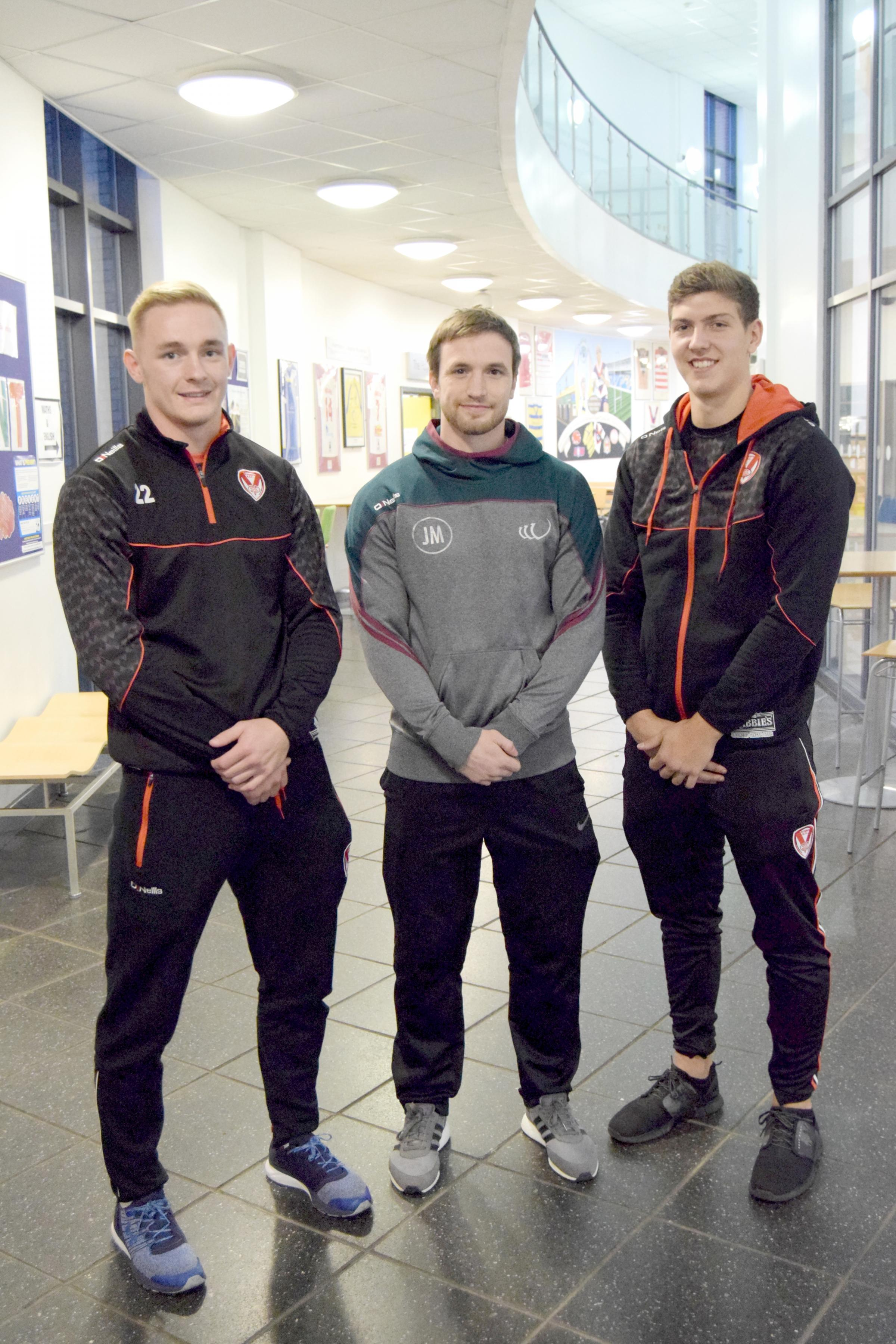 Rugby league stars Jake Spedding, Joe Mellor and Ben Morris