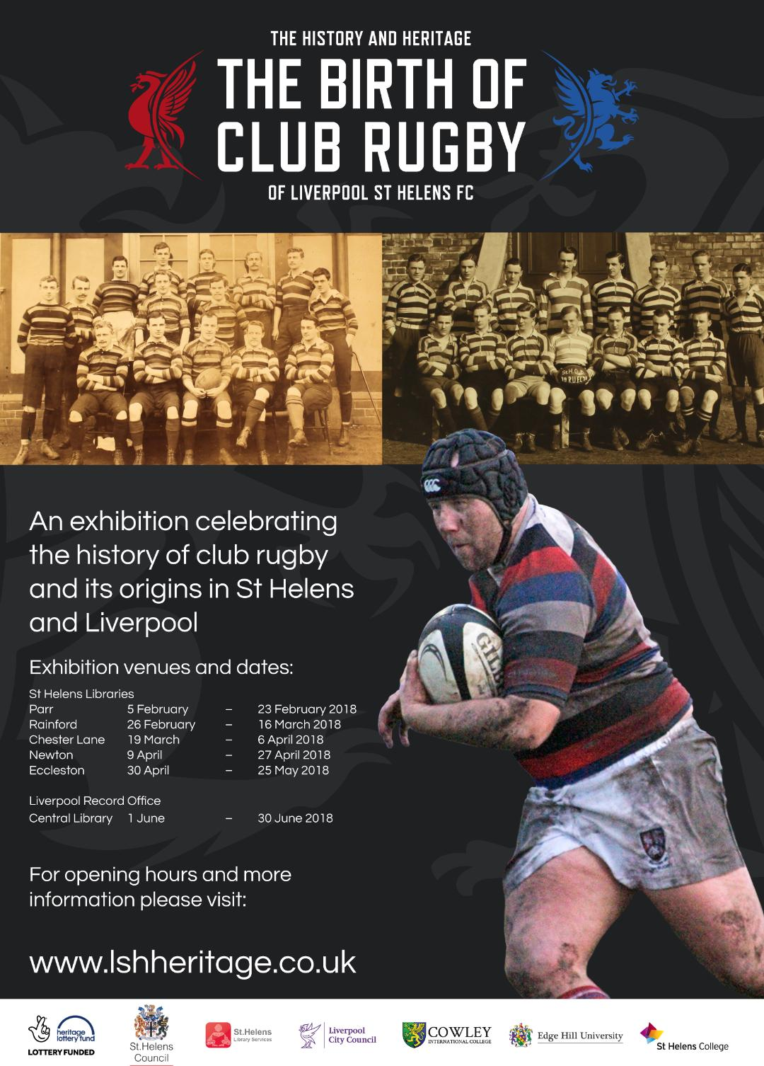 Liverpool St Helens stage 'The Birth of Club Rugby' exhibition across town's libraries