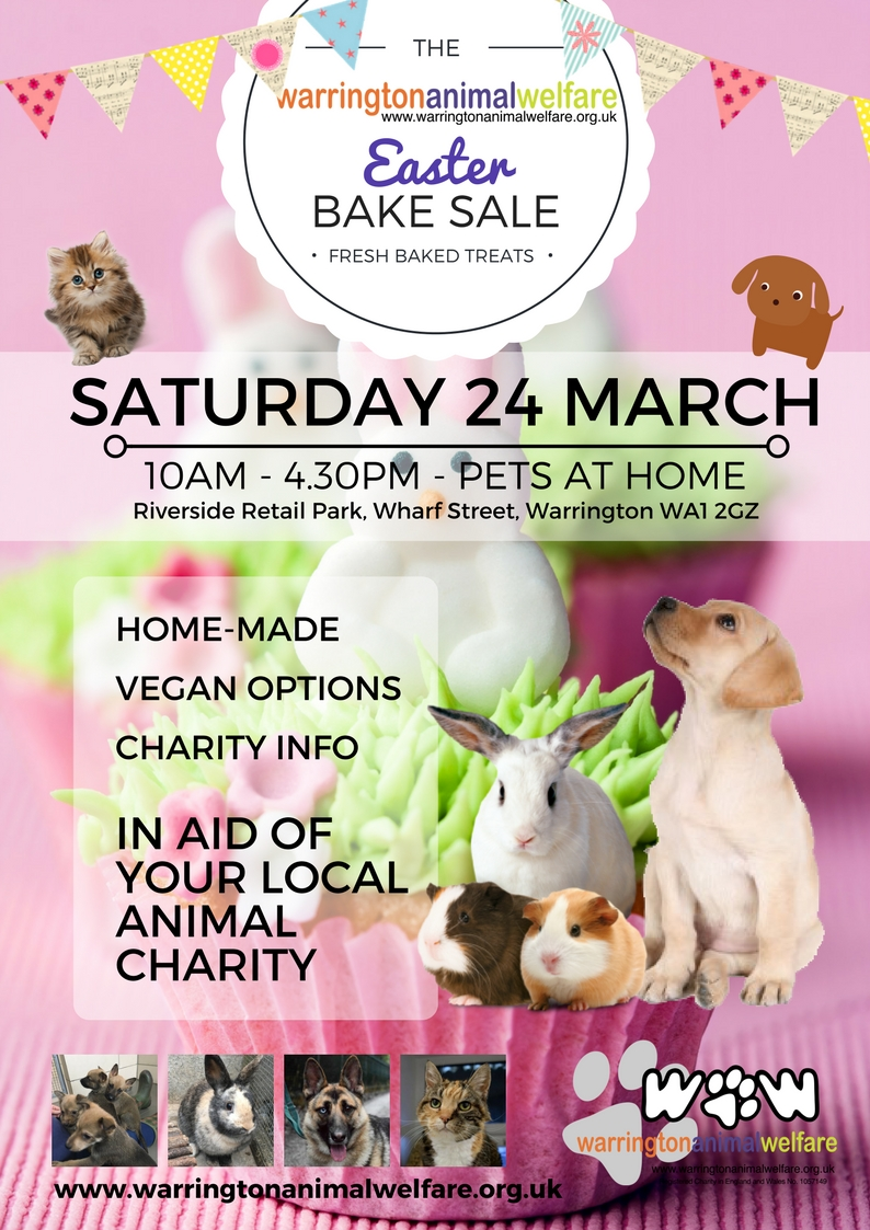 Warrington Animal Welfare Easter Bake Sale