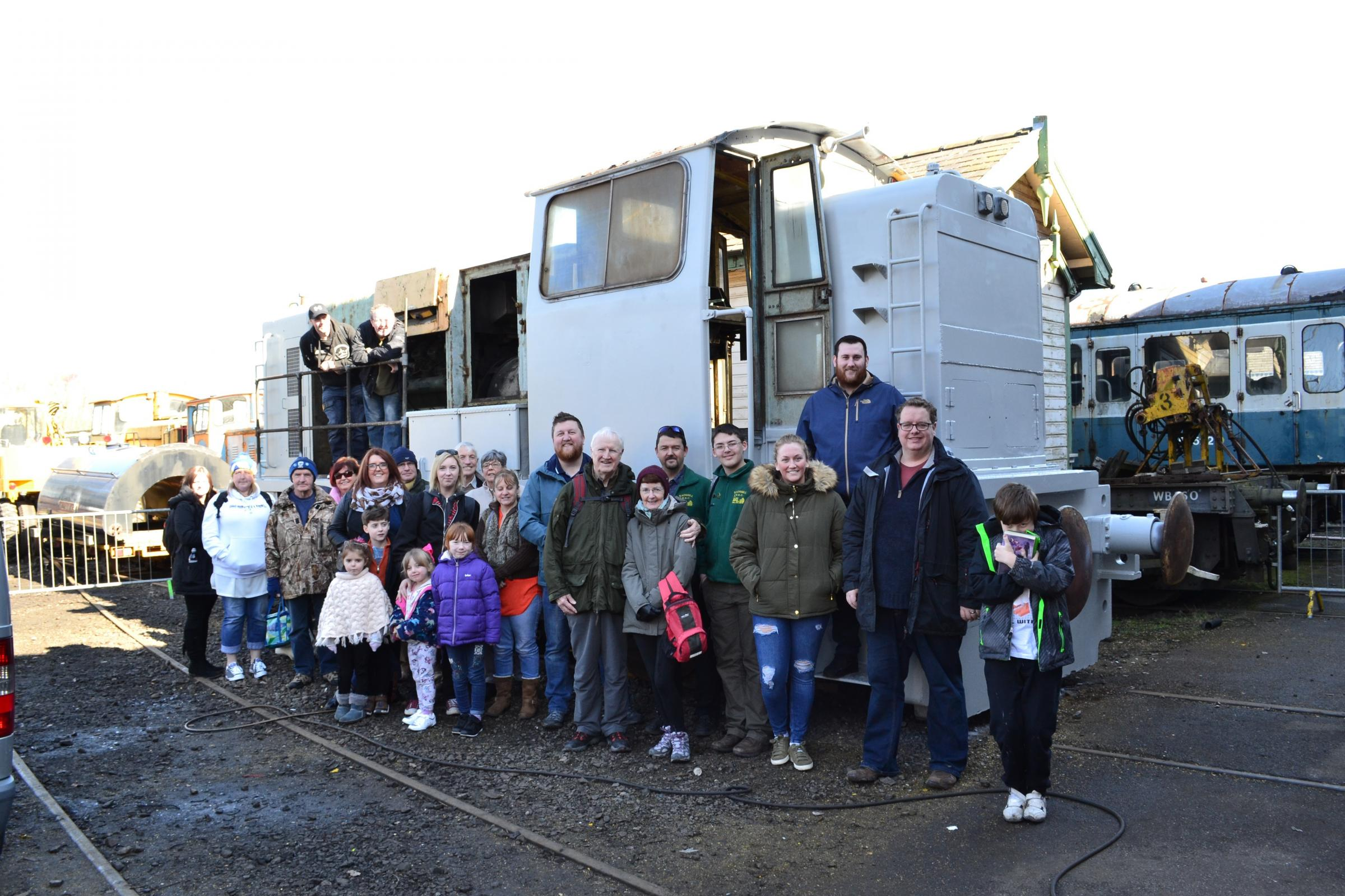 Residents at the Chasewater Railway to check on progress