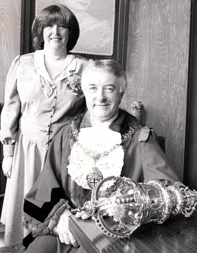 Flashback to Mike Doyle's inauguration as Mayor of St Helens in 1989.