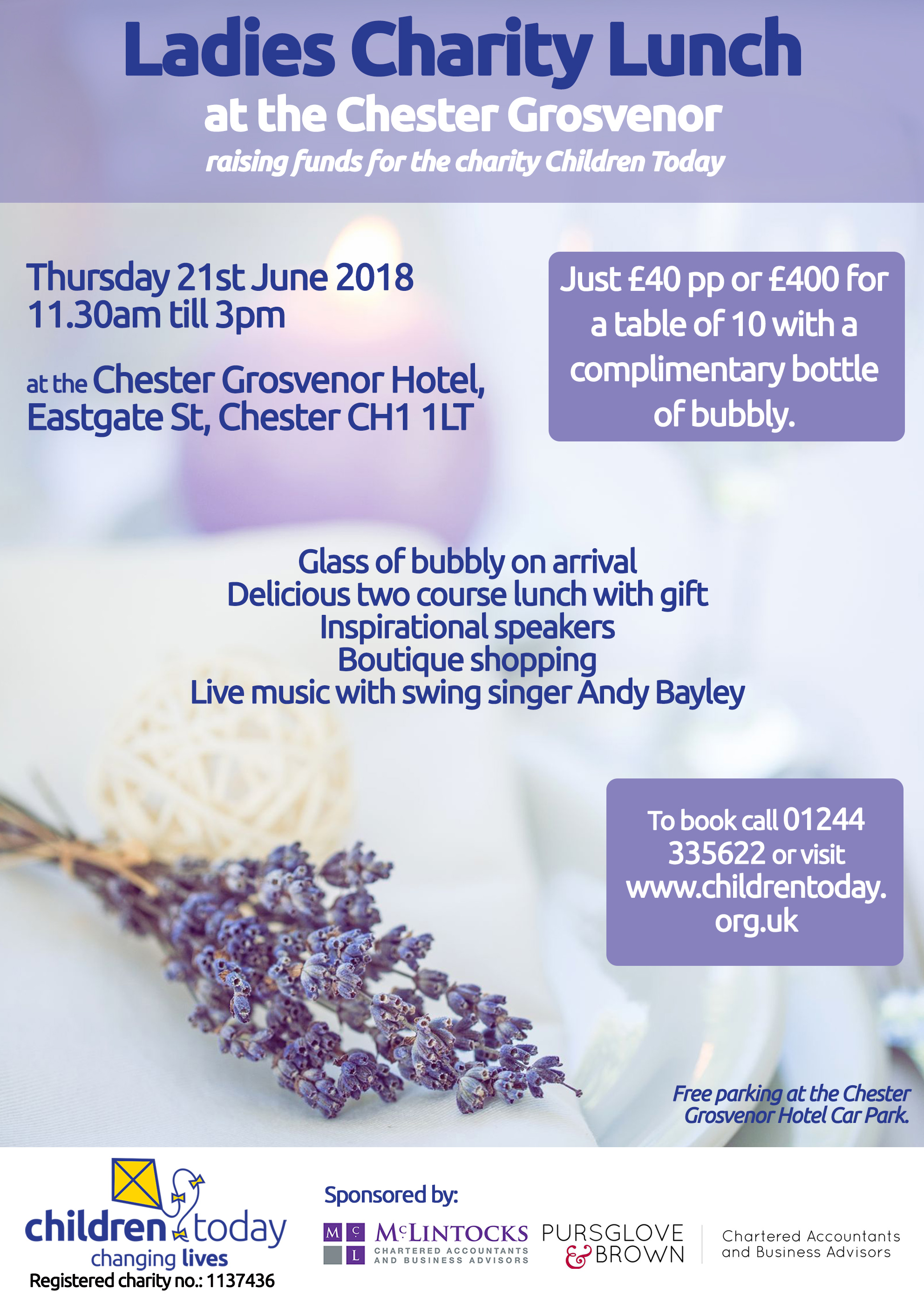 Ladies Charity Lunch at the Chester Grosvenor