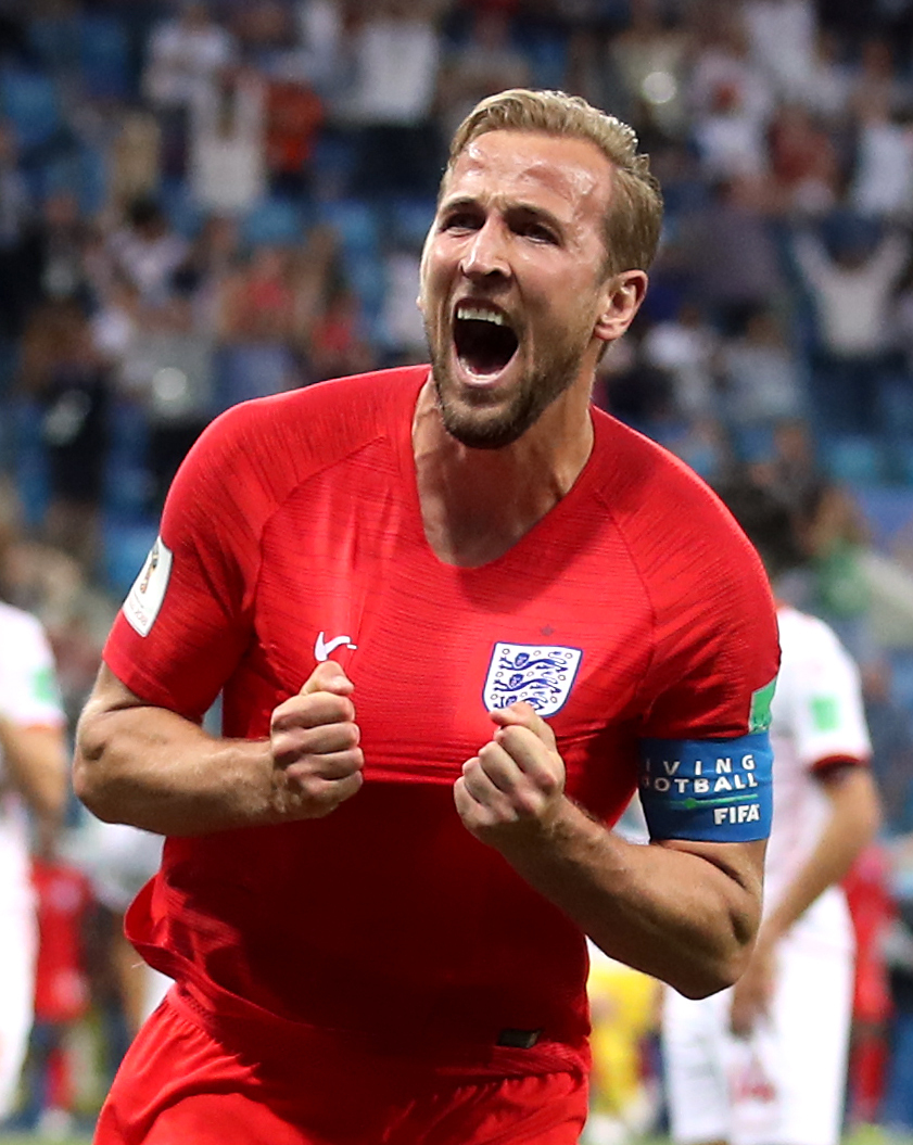 Harry Kane celebrating a goal for England earlier in the tournament Pic: Press Association
