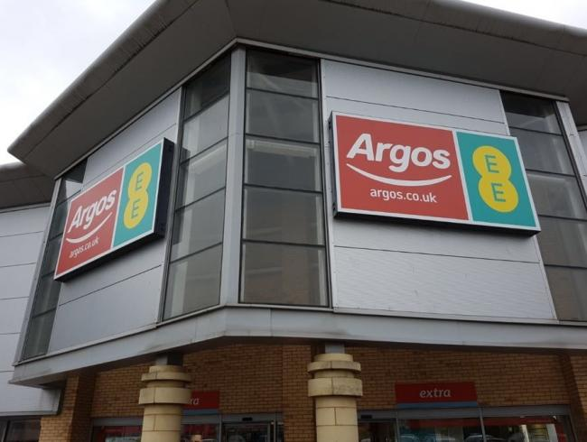 They struck at the Argos and EE store at the retail park