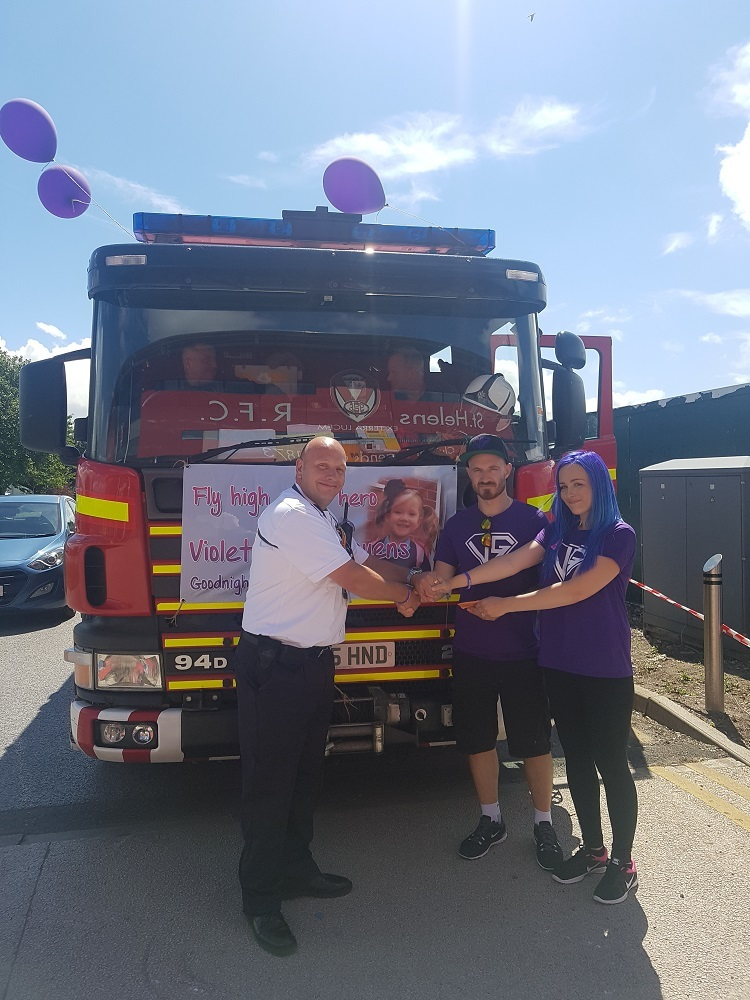Firefighters 'proud' to host second car wash fundraiser for Violet-Grace