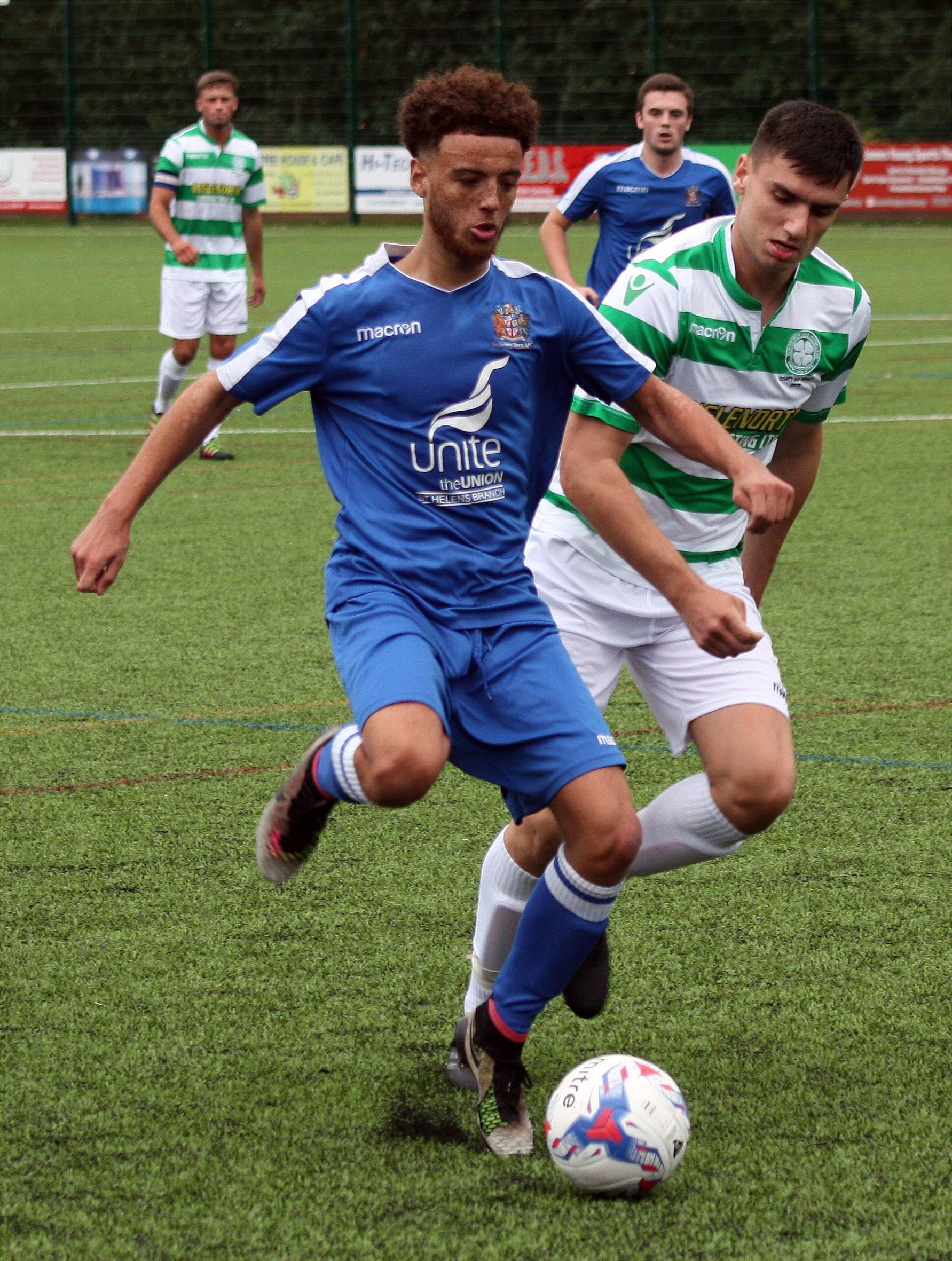 Action from Town V Cleator Moor Celtic
