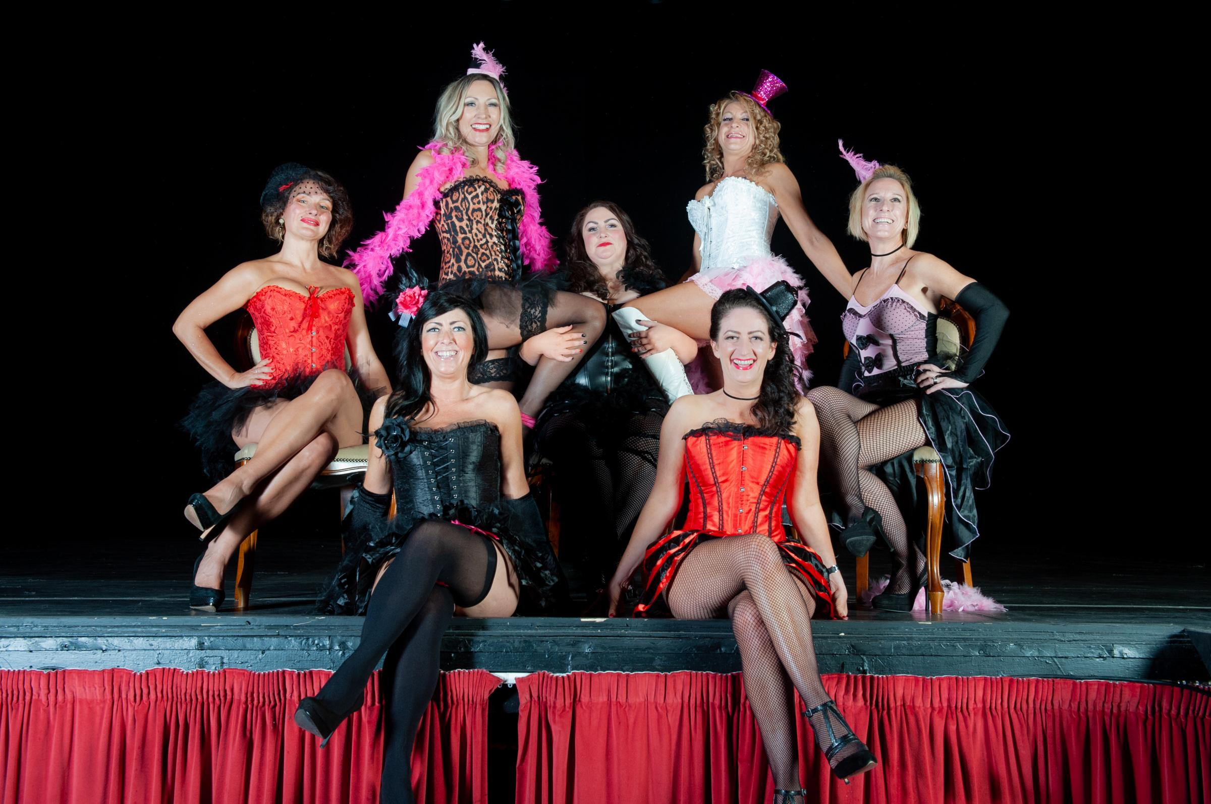 Burlesque calendar shoot a positive focus in aid of Cancer Research UK