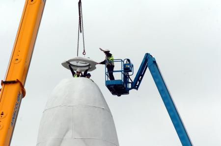 Dream statue in place at former Sutton Manor Colliery in St Helens