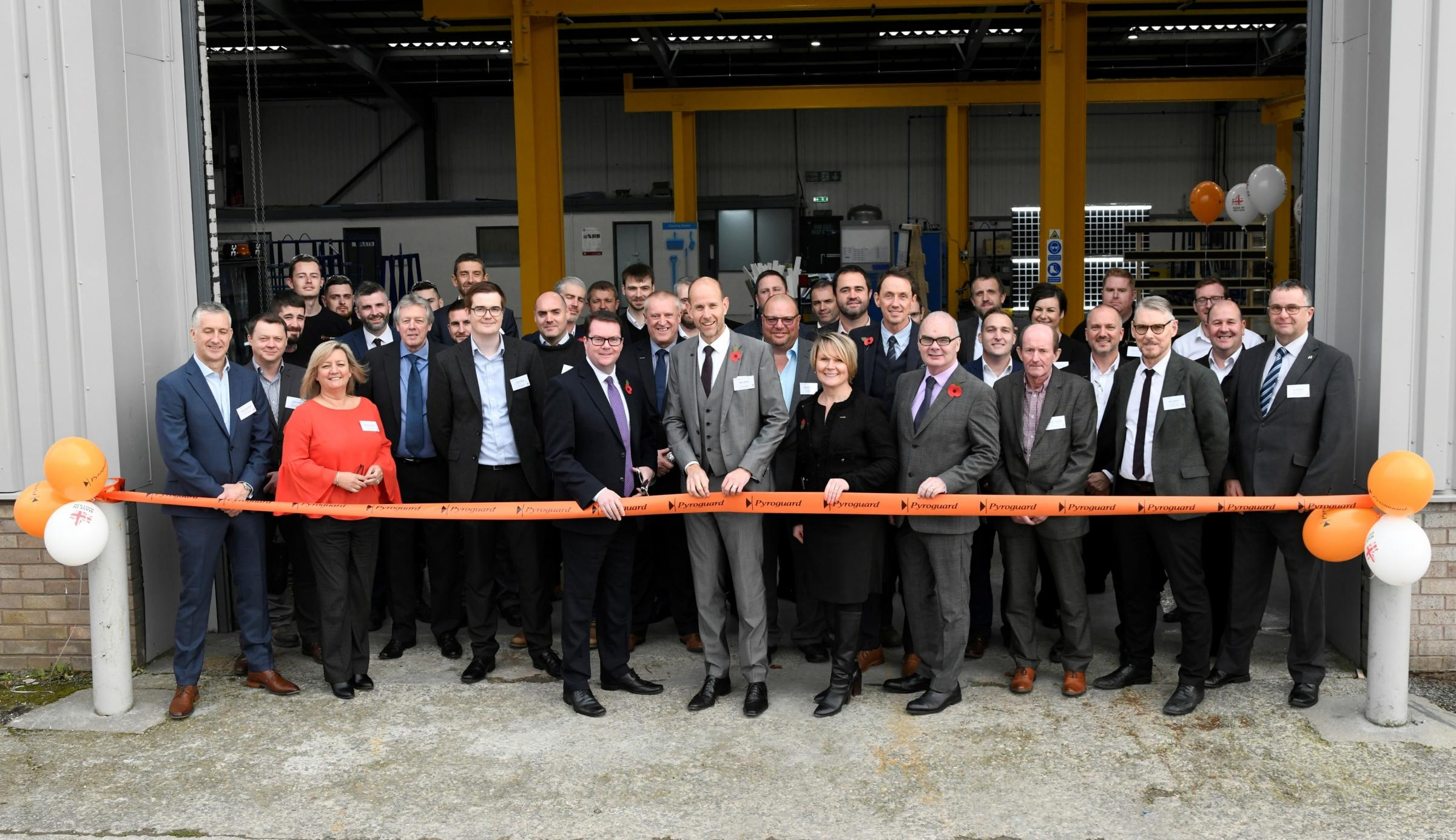 Conor McGinn MP opens Pyroguard's new manufacturing base