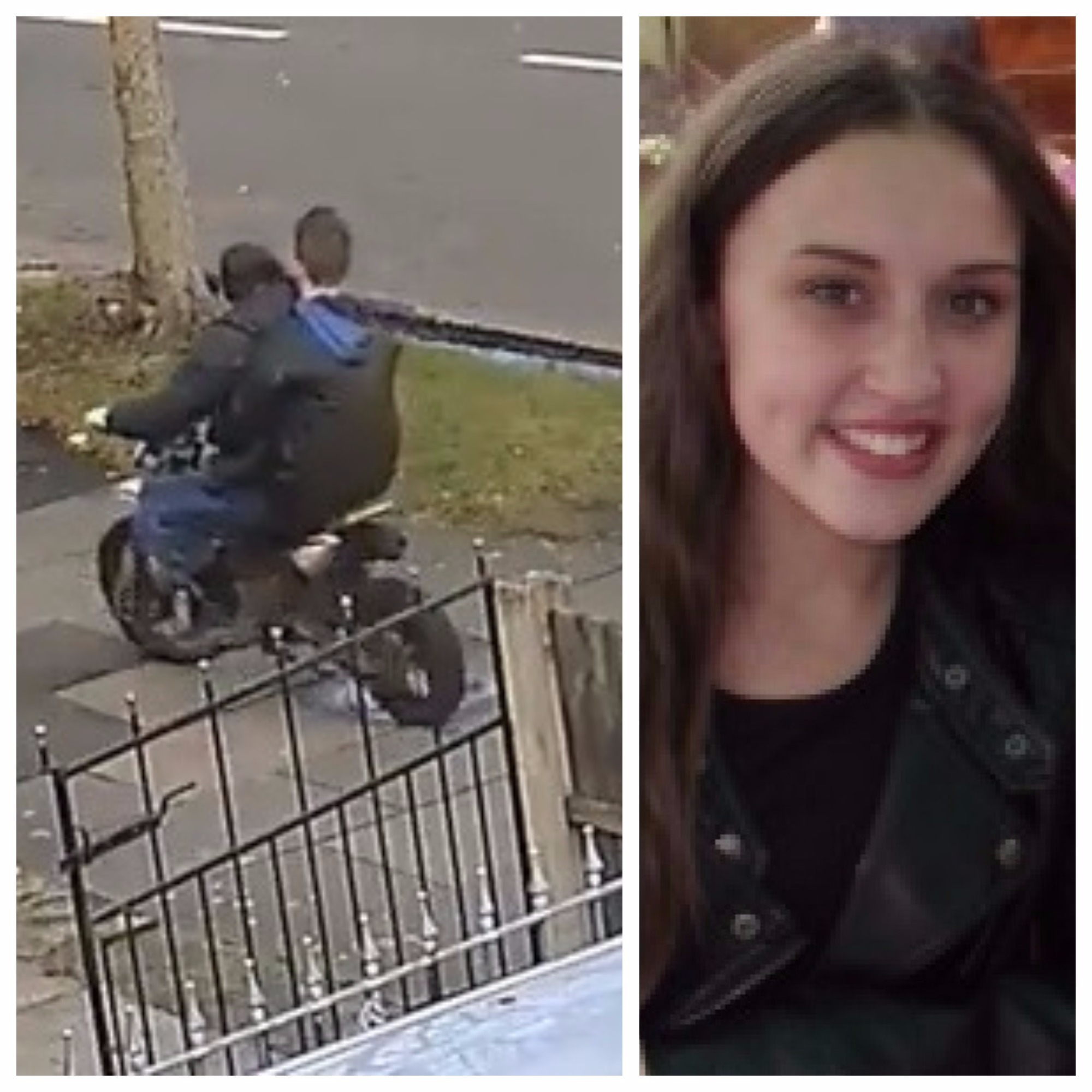 Police release CCTV footage of 15-year-old girl hit by off road bike to warn parents against buying the illegal vehicles as gifts