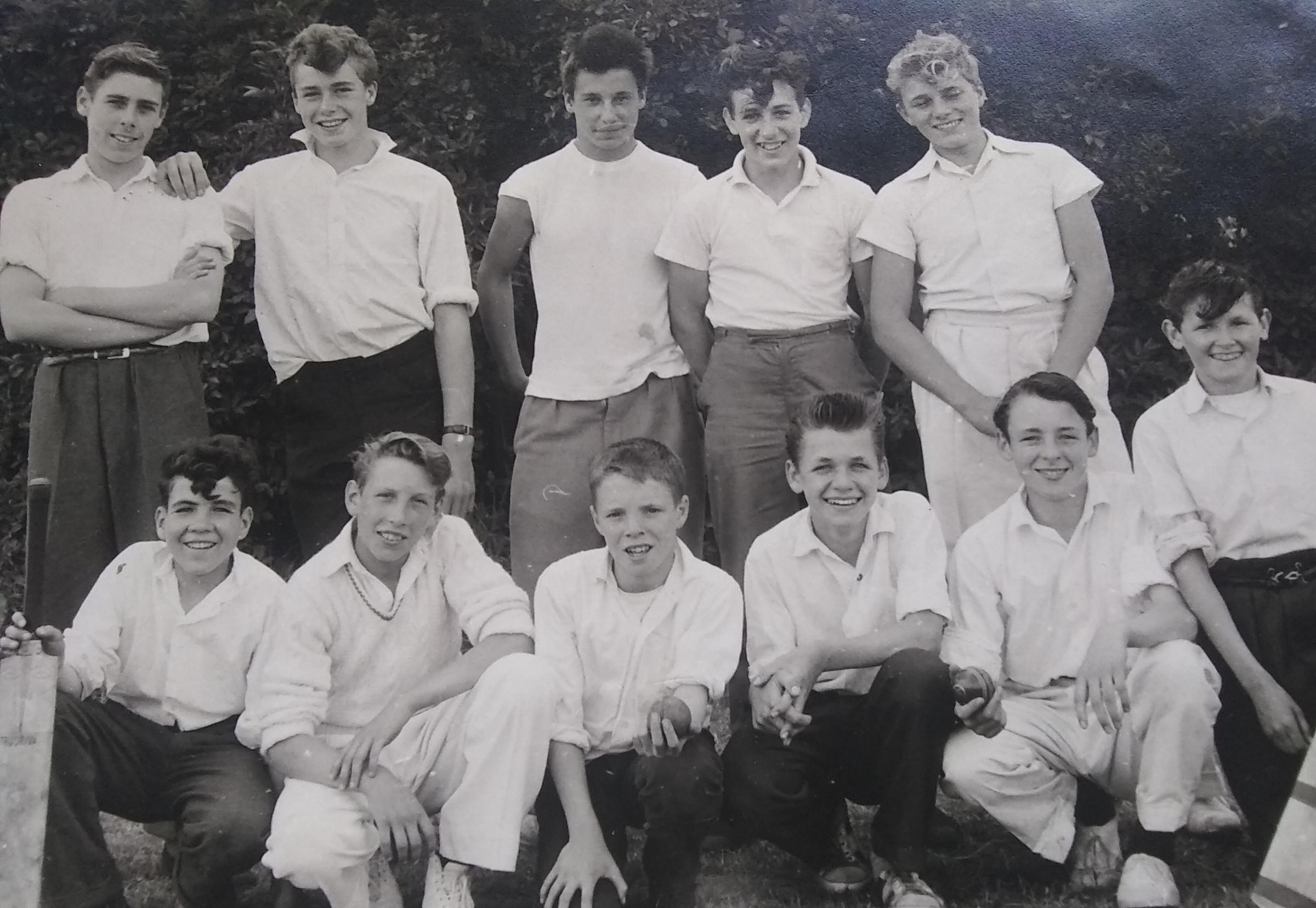 Do you know who these young men are who played for Whiston School Cricket Team in 1960?